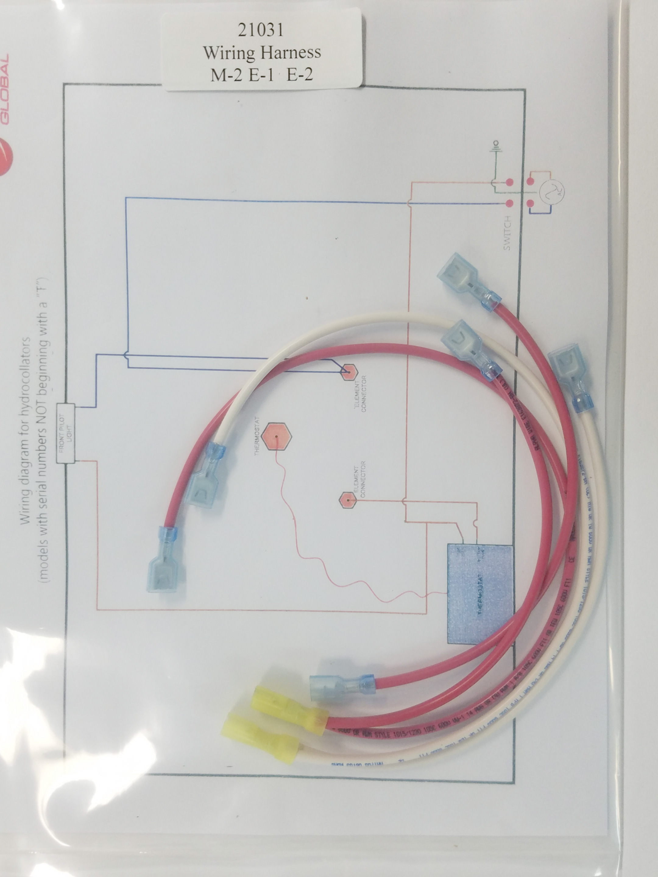 wiring harness for E-1, E-2 (old M2) 21034 | Hydrocollator Wiring Diagram |  | ERS Biomedical