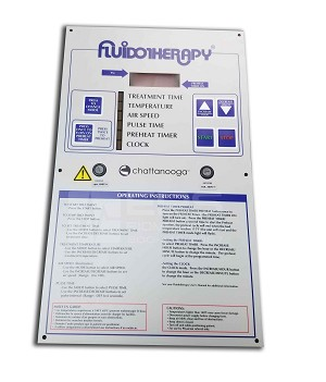 Faceplate and digital circuit board for Fluidotherapy 110D complete